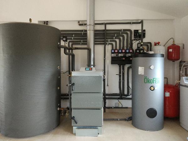 Caldera de gasificaci n de le a y energ a solar for Calderas para calefaccion central a lena